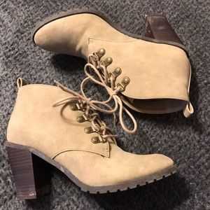 Ankle lace up booties!